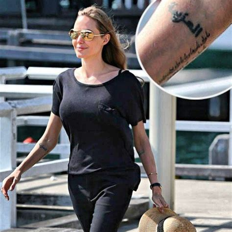 tatouage pour angelina jolie marie claire