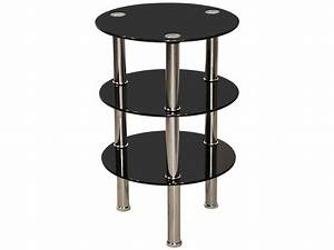 chrome black glass round end lamp small side coffee With small chrome coffee table