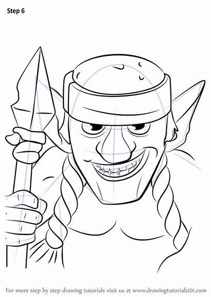 Clash Royale Drawing Spear Draw Goblins Step