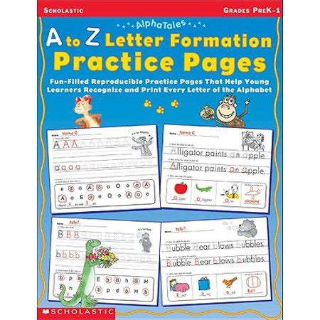letter formation practice pages grades pre
