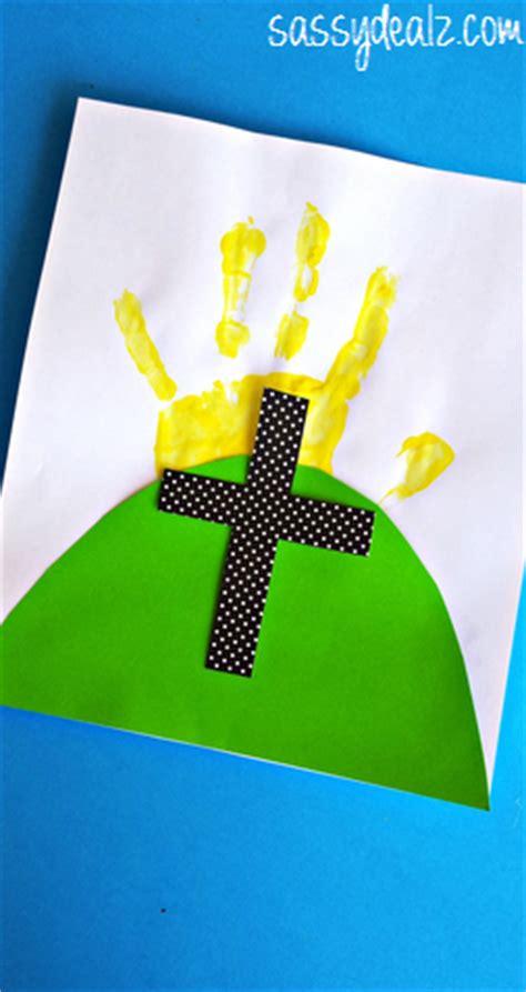 easter handprint cross craft  kids crafty morning