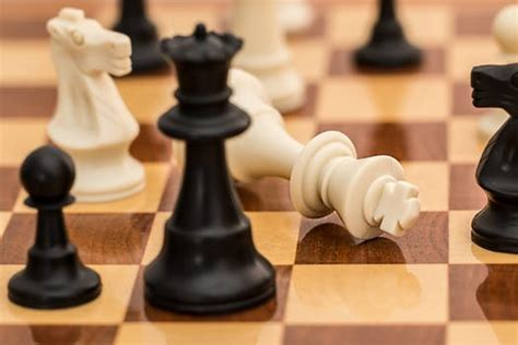 wooden black chess piece  stock photo