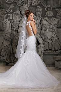 aliexpresscom buy 2015 designers white lace and see With designer mermaid wedding dresses