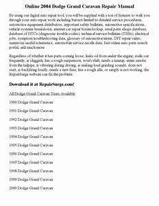 Service Manual For 2009 Dodge Grand Caravan