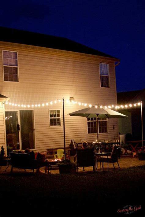 diy bistro lights bistro light patio planters step