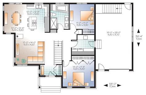 plan maison plain pied 4 chambres garage plain pied contemporain berthier sur mer montmagny