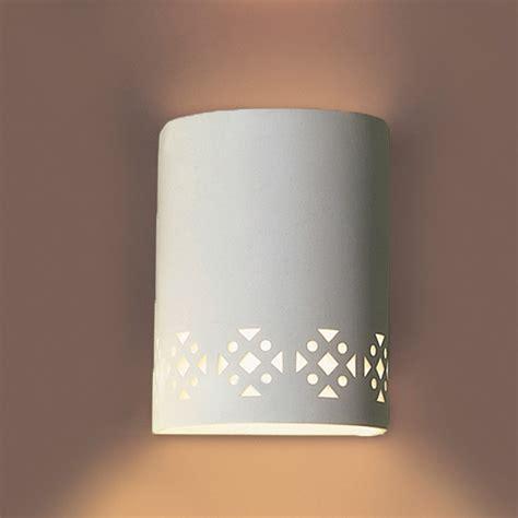 7 quot southwestern motif ceramic wall sconce ada compliant