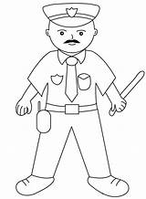 Coloring Pages Policeman Printable Police Useful Learn sketch template