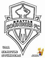 Coloring Sounders Soccer Seattle Pages Chivas Sheets Sports Mls Logos Colouring Printable Fc Usa Boys Fifa Football Mariners Print Drawing sketch template