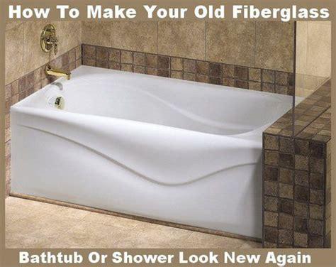 fiberglass tub cleaner restorer make fiberglass tub shower new again cleaning ideas