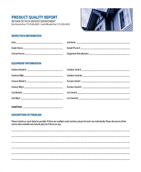 sample quality report templates  word  apple