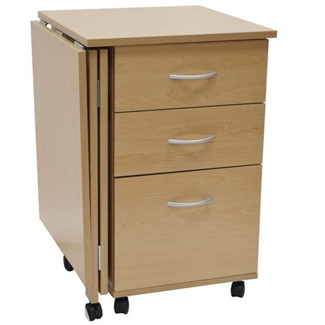 table bureau pliante flipp 3 drawer folding office storage filing desk