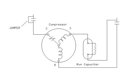 Compressor Wiring Diagram For Capacitor by A C Compressor To Capacitor Wiring A Wiring Exles And