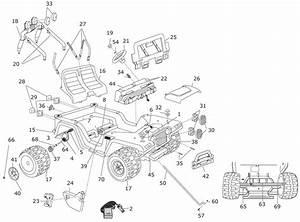 Power Wheels Blue Jeep Wrangler Parts