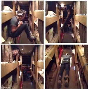Harry Styles Fools Around Carrying Out Internet Fad As He Keeps Himself Occupied On Tour Bus
