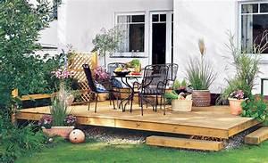 terrassen planen holzterrasse selbstde With garten planen mit markise für kleinen balkon