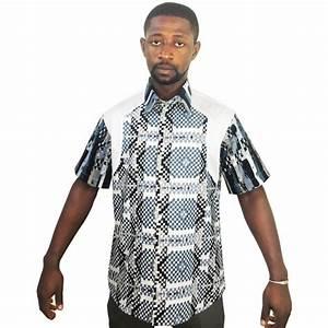 chemise en tissu et pagne woodin blanc a carreaux gris With chemise carreaux noir et blanc