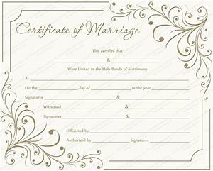creamy gray marriage certificate template get With wedding certificate templates free printable
