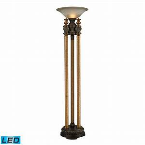 dimond lighting athena bronze led torchiere lamp 113 With torchiere floor lamp with lions