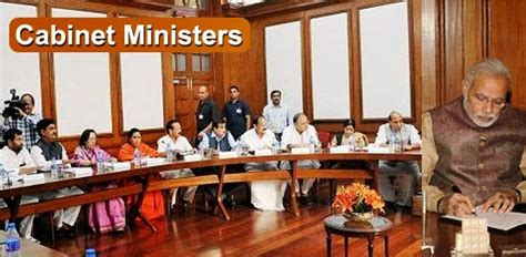 Cabinet Ministery by Cabinet Ministers Of India 2018