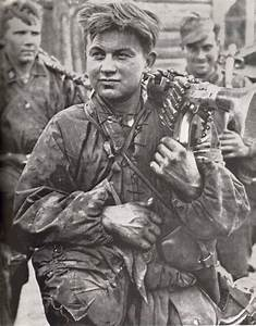 Wwii Photo German Mg34 In Action  Classic Photo Ww2 World