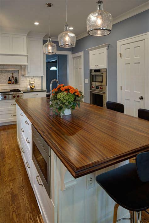 sapele mahogany kitchen island top designed  drury design