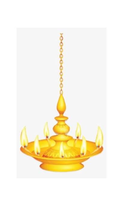 Vilakku Hanging Clipart Kuthu Drawing Pencil Lamp