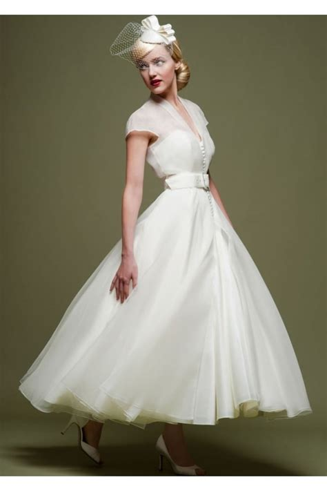 cutting edge brides short  retro tea length wedding