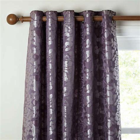 buyjohn lewis alexandra leaf lined eyelet curtains cassis