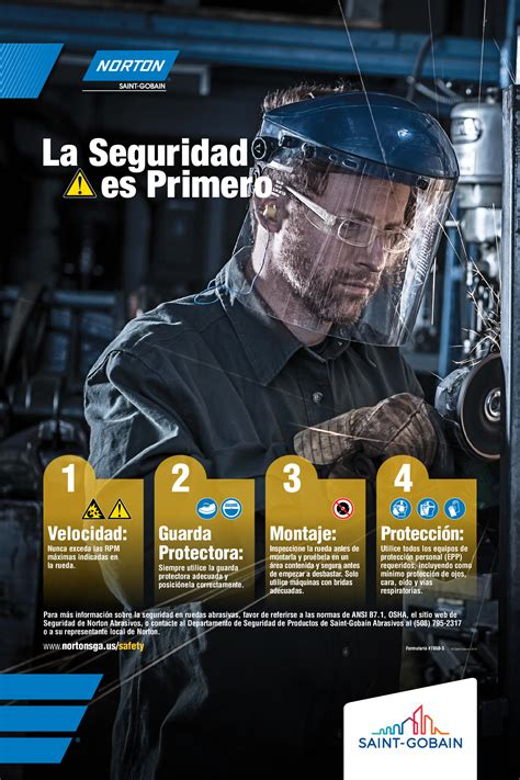 Safety Posters Now Available | Norton Abrasives