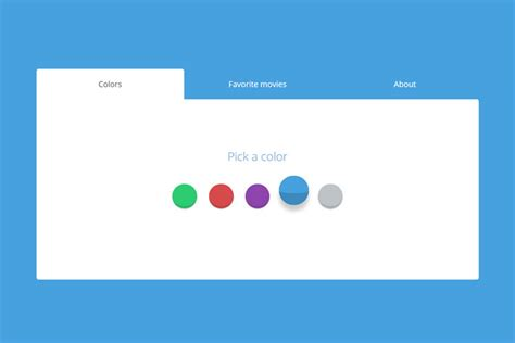 simple css js snippets  creating beautiful tabs