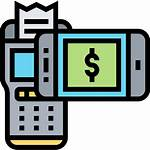 Icon Cashless Atm Icons Smartphone Payment Machine