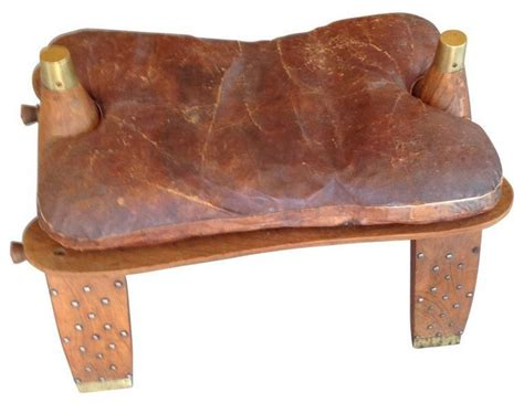 antique camel saddles for antique leather camel saddle ottoman 450 est retail 7465