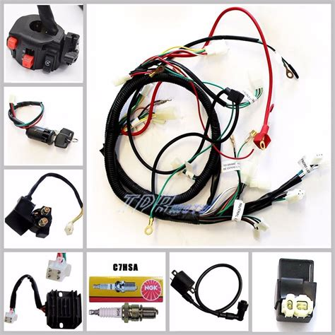 electrics wiring harness cdi coil key 150cc gy6 atv