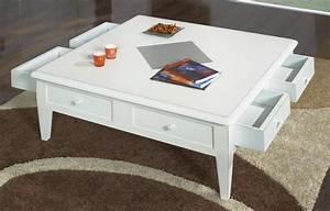 Table Basse 100x100 : table basse 100x100 iris en merisier de style directoire ivoire patin et us meuble en merisier ~ Teatrodelosmanantiales.com Idées de Décoration