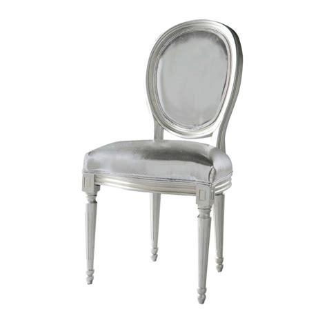 chaise louis maison du monde chaise médaillon en textile enduit argent louis maisons