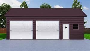 24x36 side entry steel garage With 24x36 metal garage