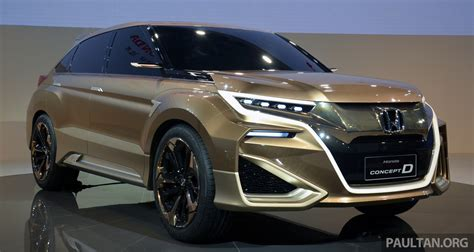 New Cars Suv by Shanghai 2015 Honda Concept D Previews New Suv