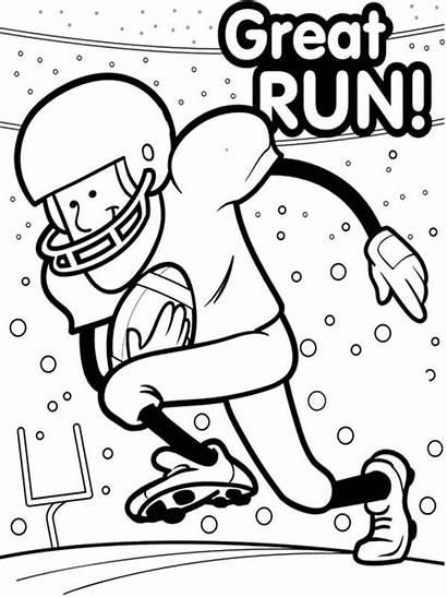 Bowl Coloring Super Pages Printable Football Sheets
