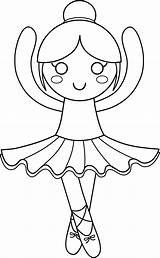 Ballerina Coloring Pages Little Clipart Cute Printable Ballet Outline Tutu Print Clip Dance Sweetclipart Transparent Colouring Dancer Ballerinas Preschoolers Princess sketch template