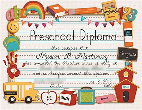 preschool diploma template sweet shoppe designs the sweetest digital scrapbooking site on the web 187 graduation woes