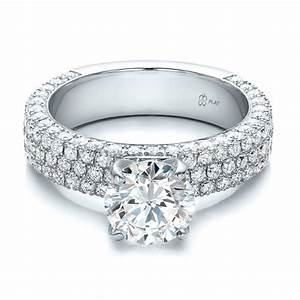 custom pave diamond engagement ring 100770 bellevue With pave diamond wedding rings