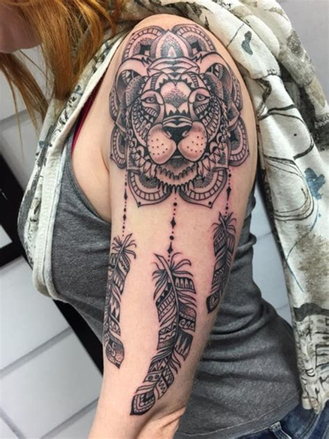 mysterious lion tattoo ideas  ink