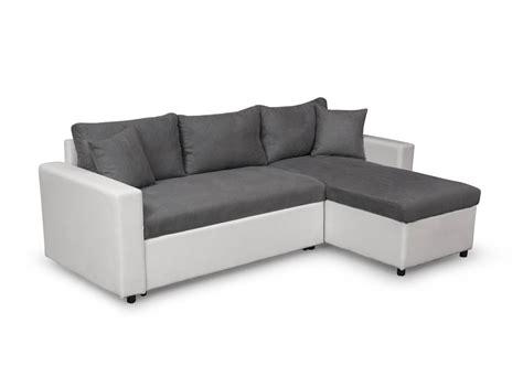 canapé coffre canapé d 39 angle réversible et convertible avec coffre gris