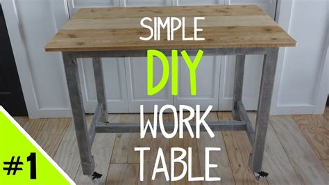 how to make a work table build a simple diy work table frame 1 of 2 youtube