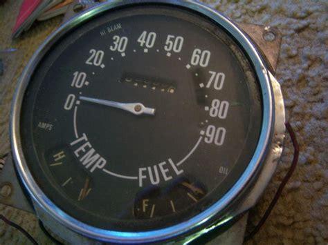 purchase jeep cj vintage speedometer  dash gauge willys