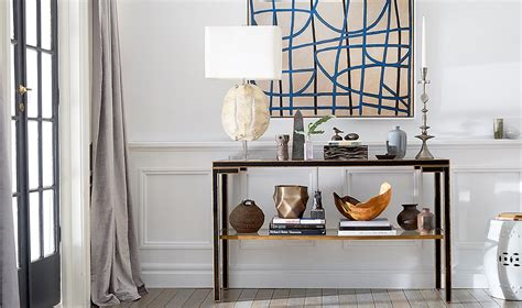 interior home magazine a by guide to decorating a console table