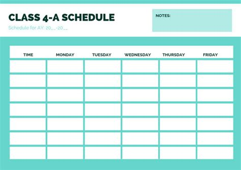 Schedule Template by Customize 403 Class Schedule Templates Canva