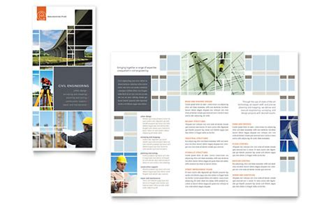 construction tri fold brochure templates word publisher