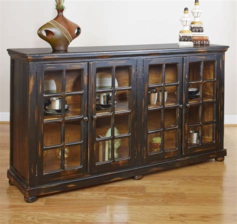 Rustic Sideboards Furniture by Rustic Collectibles Sideboard Black Rub Through Largo